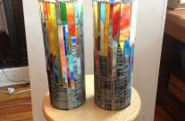 Tall Mosaic Vessels